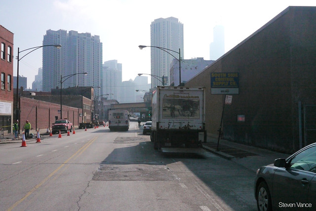Issues with biking on Milwaukee towards Kinzie