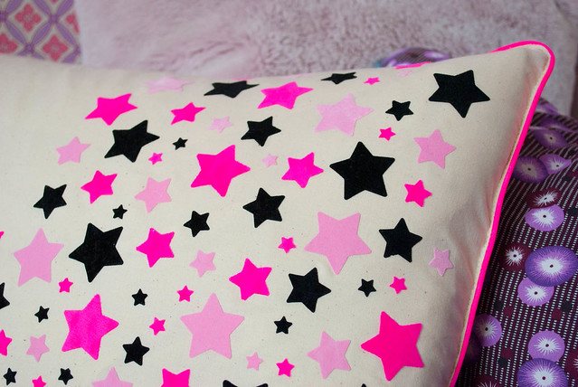 neon star pillow