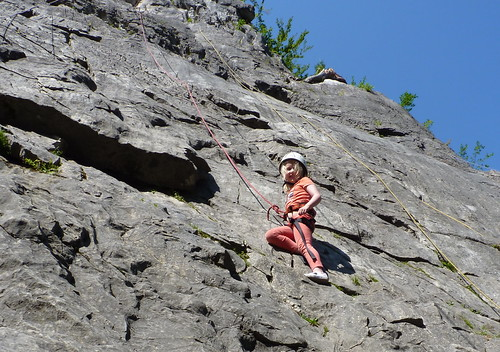 Take to the rock face with a climbing lesson