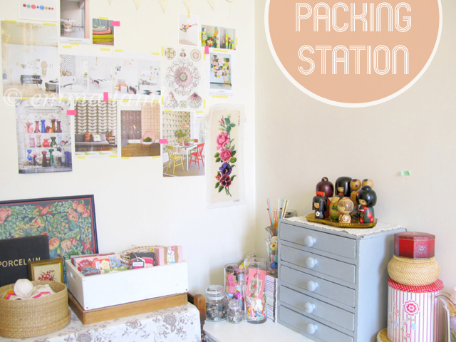 studio details : packing station | Emma Lamb