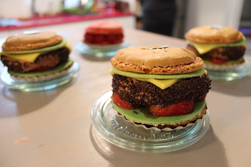 Burger Macarons my parents brought for me when I was sick