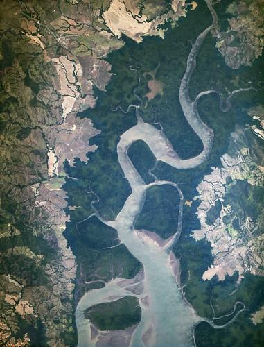 [フリー画像素材] 自然風景, 河川・湖, 衛星画像 ID:201303151600