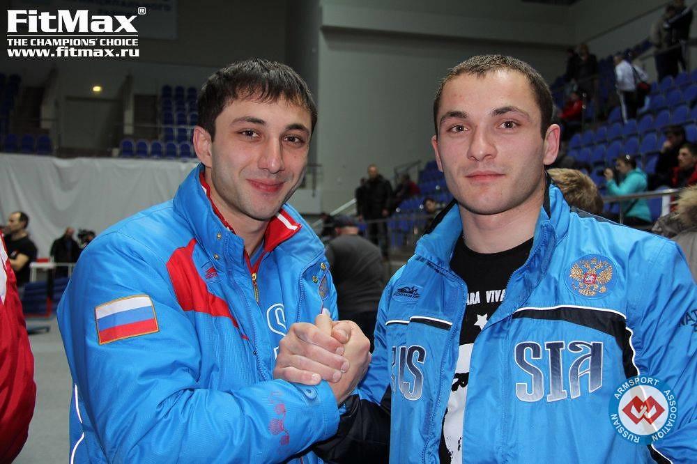 Khadzimurat Zoloev, Spartak Zoloev (Zoloev brothers) at  Russian Armwrestling Championship 2013