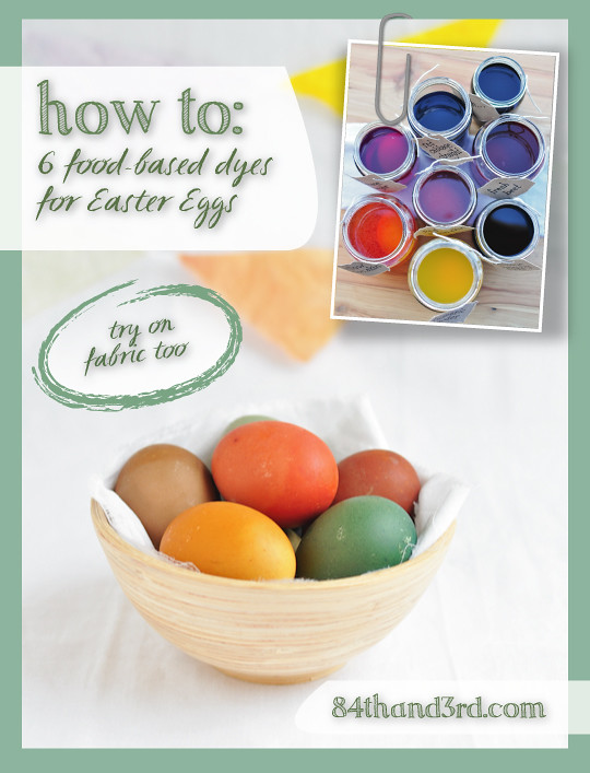 6 Natural Food-based Easter Egg Dyes