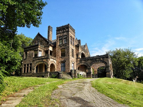 Sharon PA ~ Victorian Stone Mansion on The Hill ~ Abandon