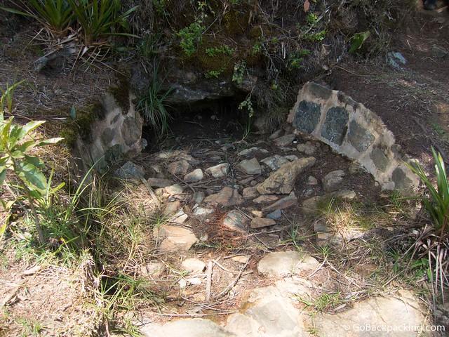 Former saltwater spring