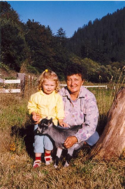 Nina with goat