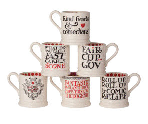 Emma Bridgewater Comic Relief mugs