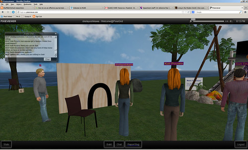 Virtual Worlds Educators Roundtable 14 March 2013 - Pixiegrid