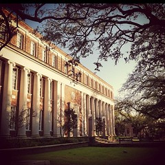 Jones Hall at sunset #onlyattulane #tulane
