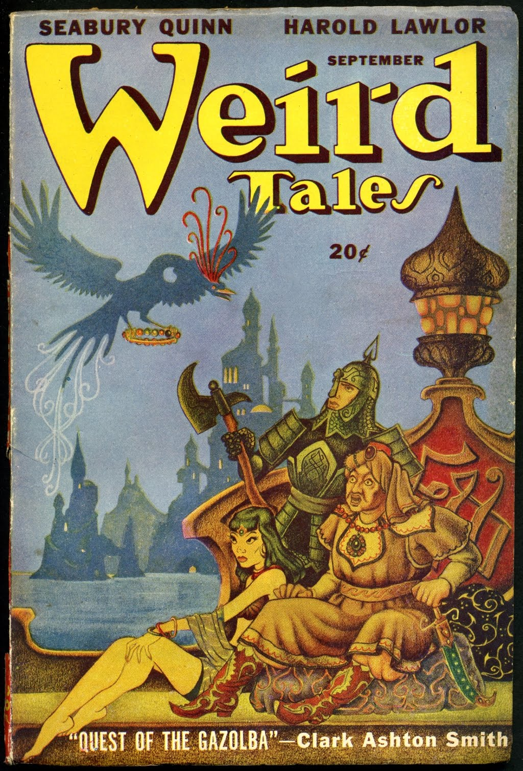 Boris Dolgov - Cover for Weird Tales, Volume 39, Issue 12, 1947
