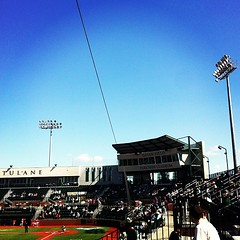 beautiful day for Tulane baseball #onlyattulane #onlyinneworleans #tulane #rollwave