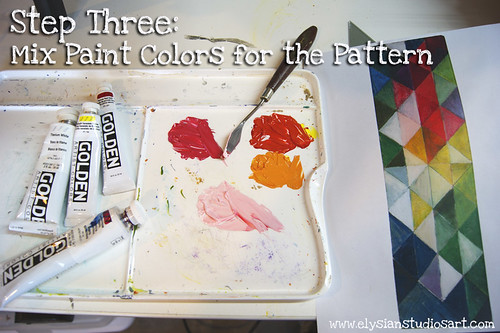 Mixing Colors for painting pattern