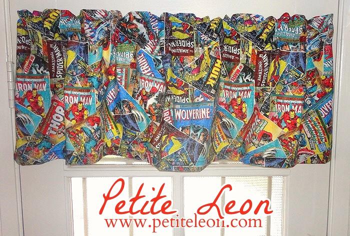 Marvel comics avengers valance captain america iron man spiderman hulk new - Captain america curtains ...