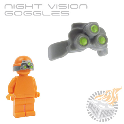 Night Vision Goggles - Dark Blueish Gray (lime green lens print)