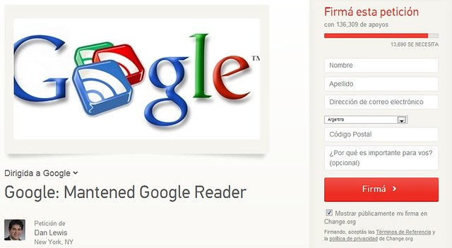 Mantener Google Reader