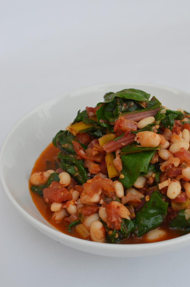 swiss chard and white beans