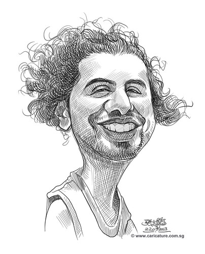 Hazem digital caricature sketch