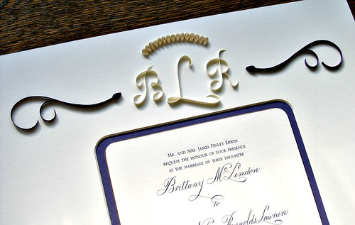 Monogrammed Wedding Invitation Mat