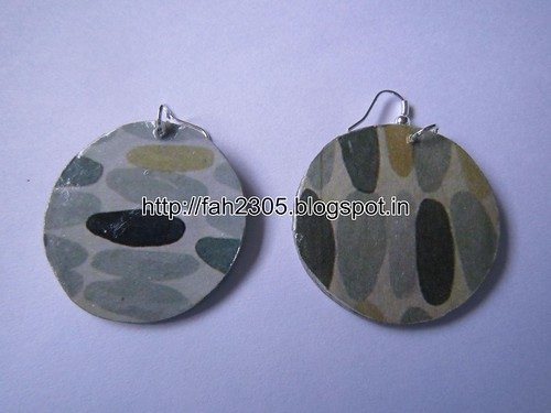 Handmade Jewelry - Card Paper Earrings (1) by fah2305