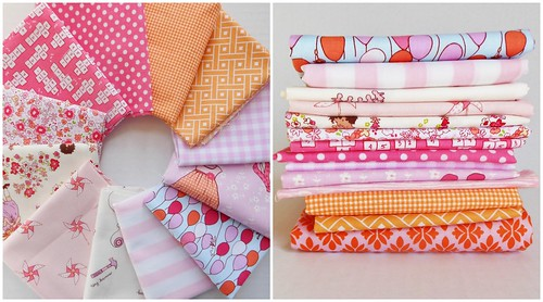 Pink and Orange Fabric Pull by simple girl, simple life