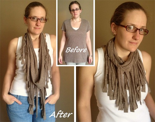 Fringed Scarf Before & After