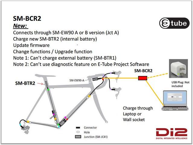 Install internal battery sm btr on ultegra di bike