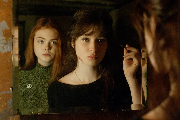 Elle Fanning and Alice Englert's friendship is threatened by nuclear annihilation in GINGER & ROSA.