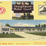 Shenandoah Motor Court, U.S. Route No. 11, 18 miles north of Roanoke, Va., 19 miles south of Natural Bridge, Va.