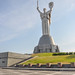The Mother Motherland monument soaring 102m. above ground level - Museum of Great Patriotic War (visitors digitally removed)