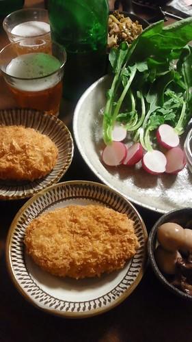 ビールとコロッケ by nekotano