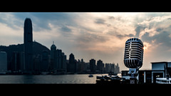Elvis & The Hong Kong Skyline