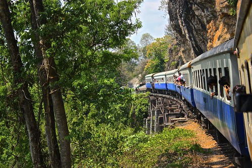 going over Thamkrasae bridge