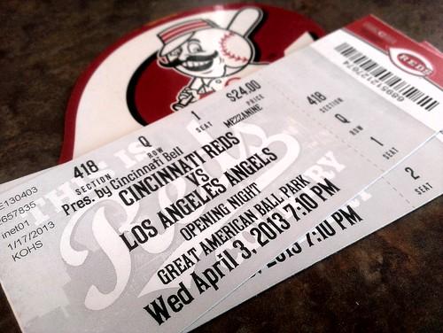 Reds Opening Night tickets