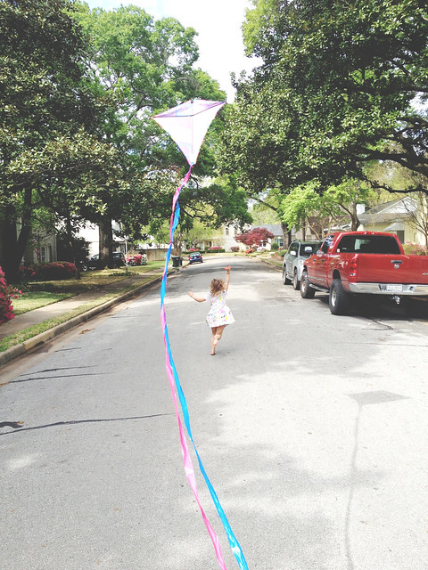 avery flying kites on easter