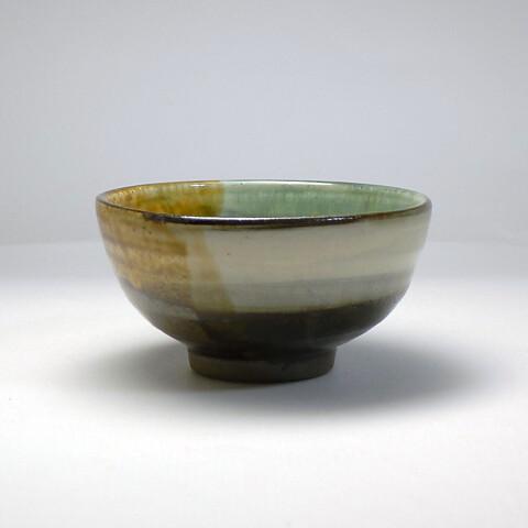 小鹿田焼 柳瀬朝夫窯「三彩茶碗」