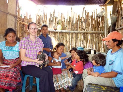 With Ana Petronila's family