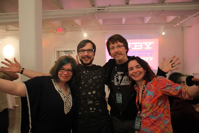 Some of the Ruby Midwest speakers.
