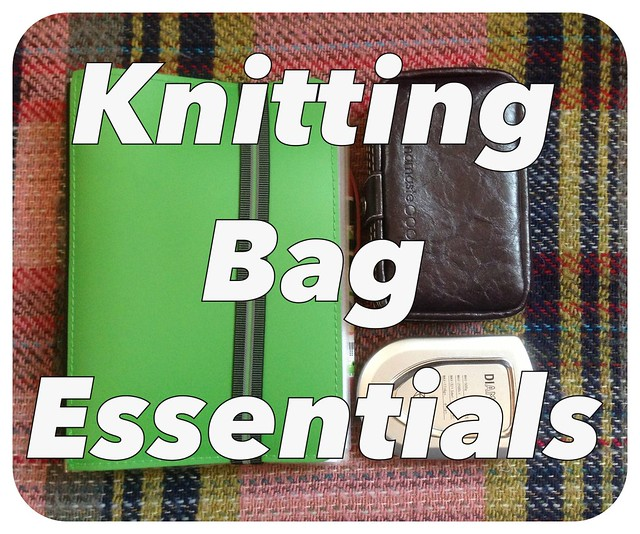 On the blog later - a peek inside my knitting bag