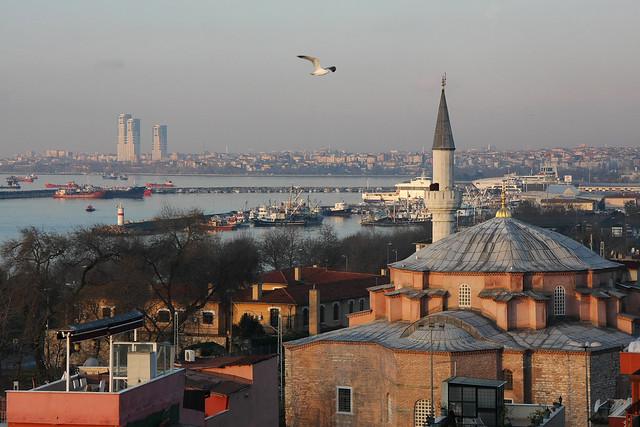 Little Hagia Sophia before sunrise, Istanbul, Turkey イスタンブール、日の出前のキュチュック・アヤソフィア