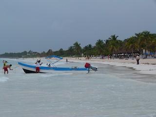 Playa próxima a las ruinas mayas de Tulum (México)