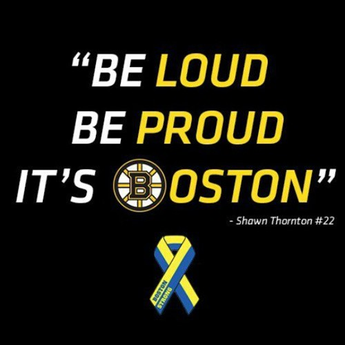 #BostonStrong #bruins #thorty #22 #beantown #proud