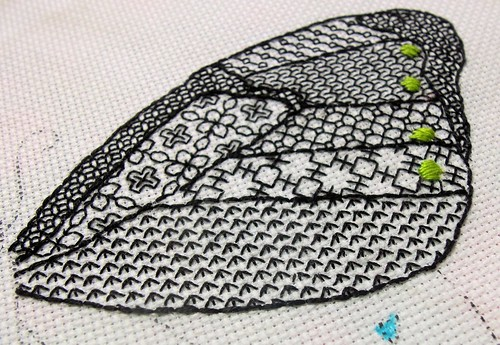 Blackwork Butterfly wip
