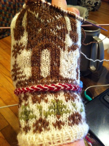 First Nutcracker mitten body halfway done. by BlueDragon2