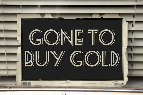 GONE GOLD SIGN by WilliamBanzai7/Colonel Flick