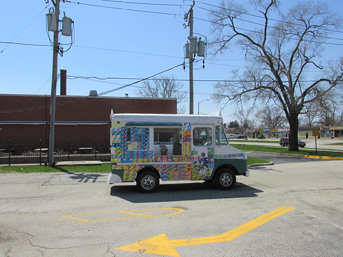 A local ice cream vendor on West 116th Street.  Alsip Illinois.  Sunday, April 21st, 2013. by Eddie from Chicago