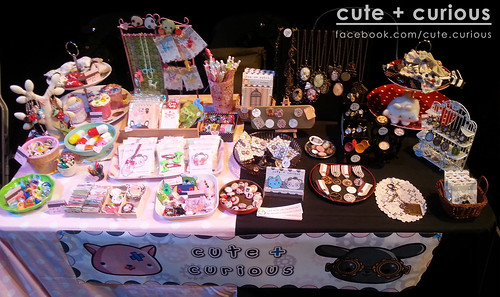 Cute + Curious Stall layout