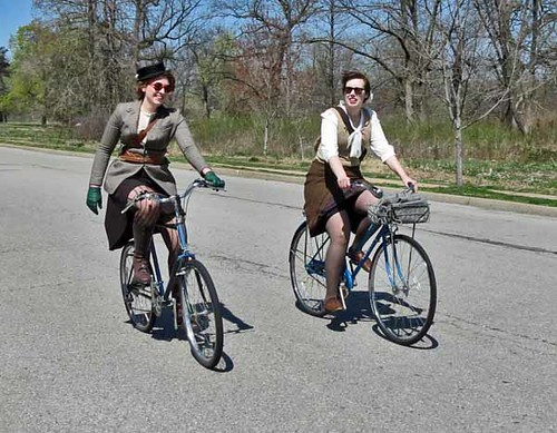 Two Tweed Cyclists
