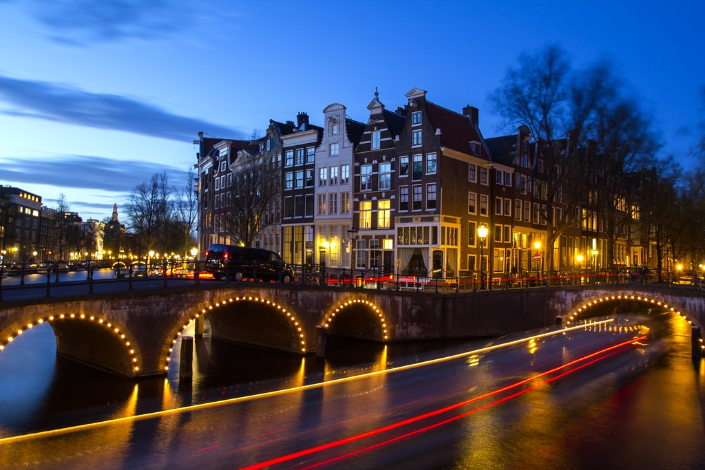 Amsterdam with boat