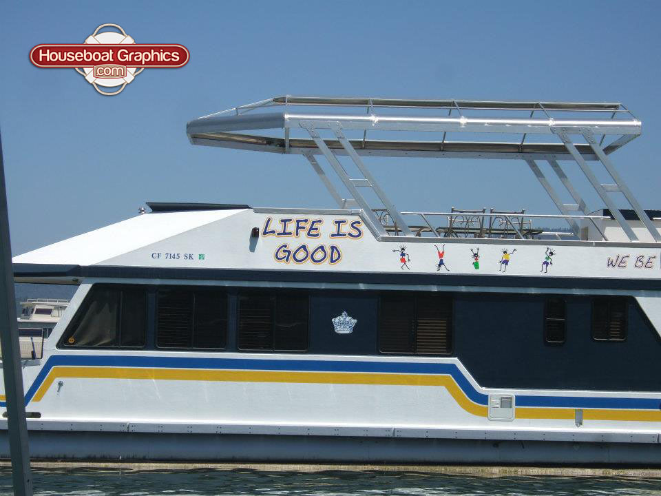 Graphics For Hausbeat Graphics Wwwgraphicsbuzzcom - Custom houseboat graphicshouseboat graphics gallery striping